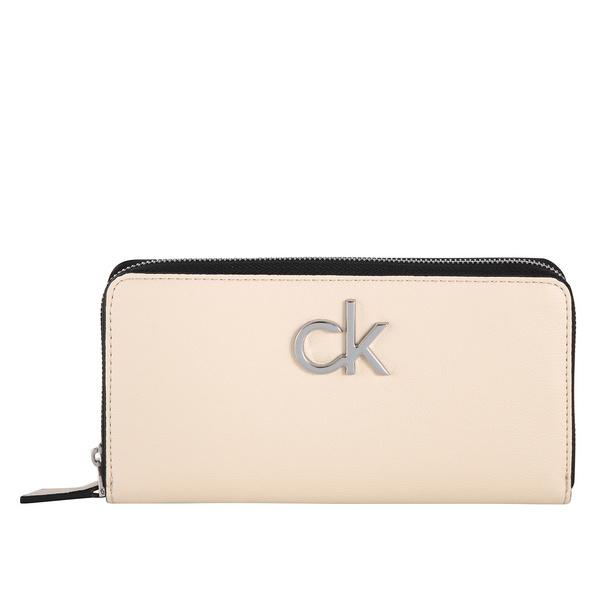 Calvin Klein Langbörse Damen Re-Lock Ziparound Wallet LG light sand
