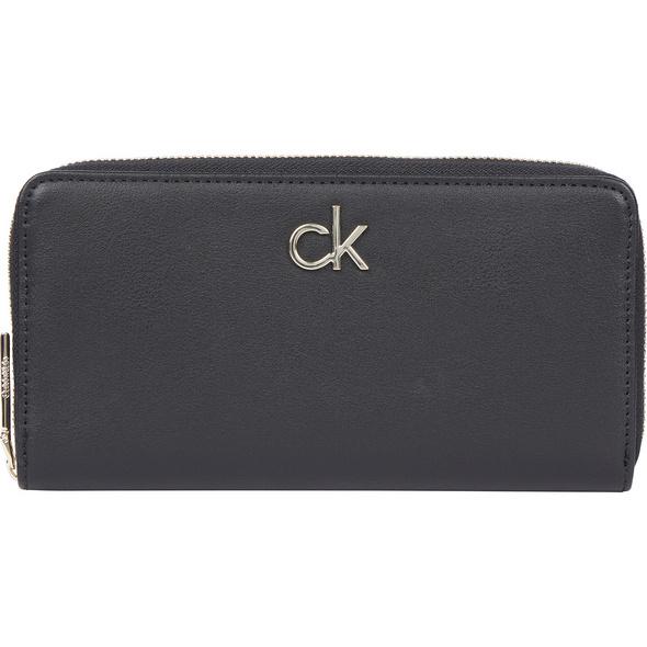 Calvin Klein Querbörse Damen Slim Zip Around Wallet LG ck black