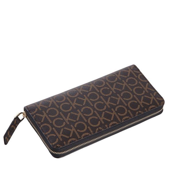 Calvin Klein Langbörse Damen Monogram Z/A Wallet LG brown ck mono