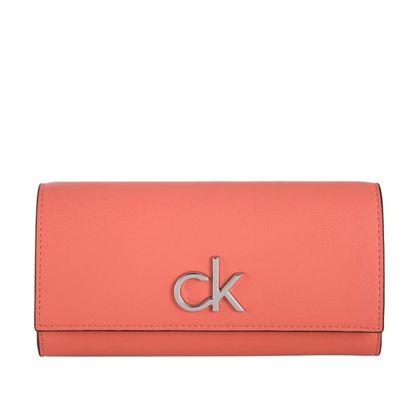 Calvin Klein Überschlagbörse Damen Re-Lock Trifold Wallet LG coral