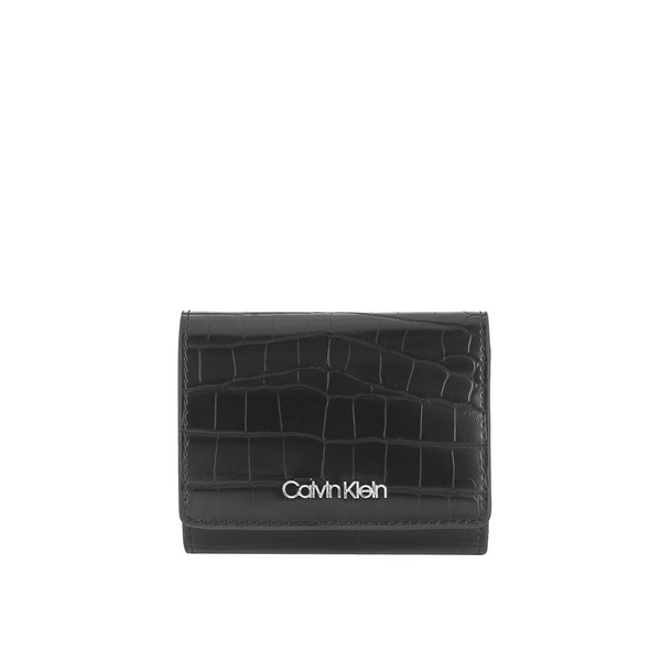 Calvin Klein Überschlagbörse Damen Must Croc Trifold XS black