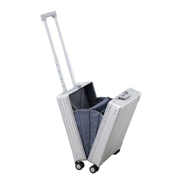 Aleon Business Trolley Vertical 56cm Platin