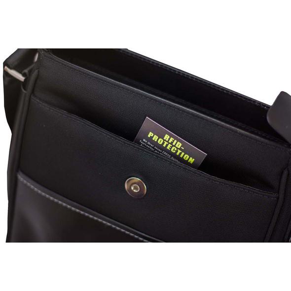 """Cross Tablettasche Seville Crossbag 10"""" RFID-Schutz schwarz"""