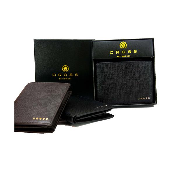 Cross Geldbörse RTC slim RFID in Geschenkbox 4+3CS dunkelbraun