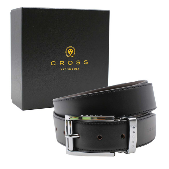 Cross Wendegürtel Herren Maestro S3 selbstkürzbar schwarz+braun