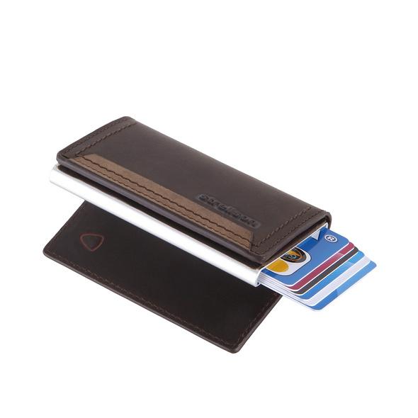 Strellson Kreditkartenetui Camden c-one e-cage SV8O dark brown