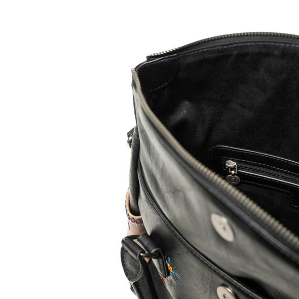 Desigual Kurzgriff Tasche Lululove Loverty negro