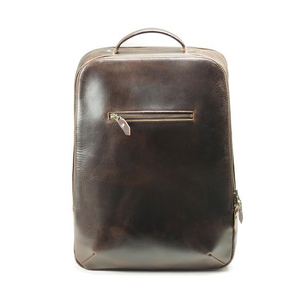 """Buckle & Seam Laptop Rucksack Leon 16"""" brown/str"""