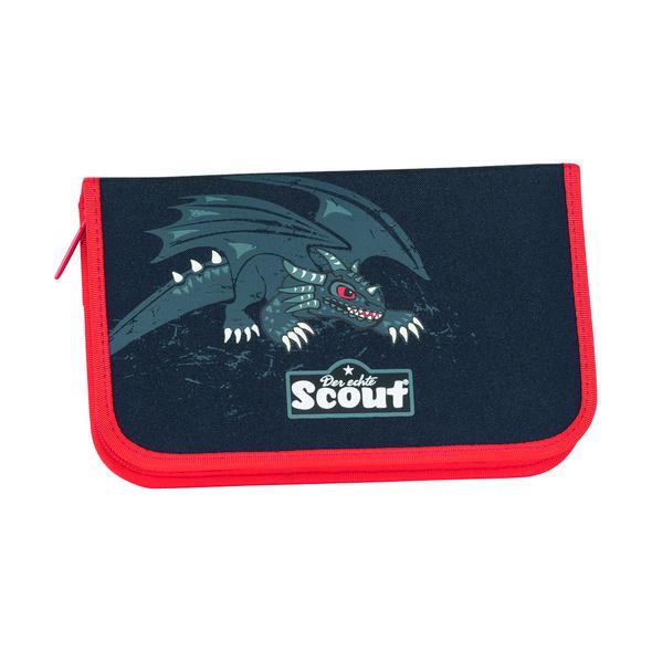 Scout Schulranzen-Set 4tlg. Genius Black Dragon