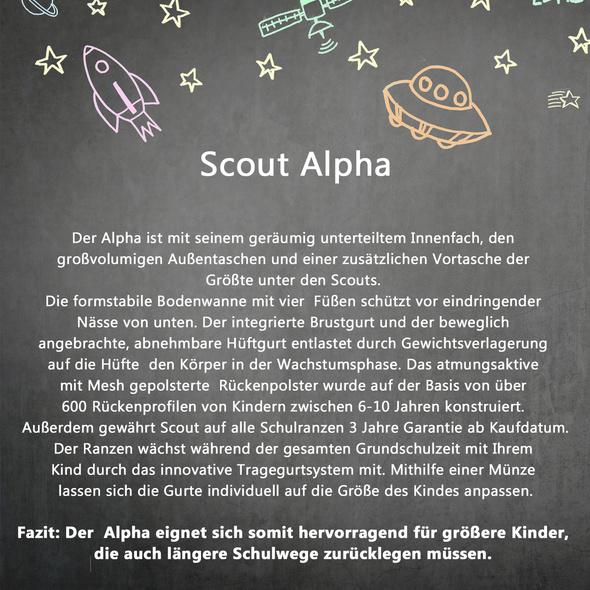 Scout Schulranzen-Set Mädchen Alpha 4tlg. LILAC UNICORN