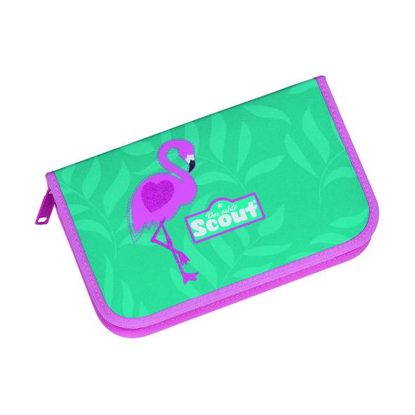Scout Schulranzen-Set Mädchen Alpha 4tlg. Glitter Flamingo