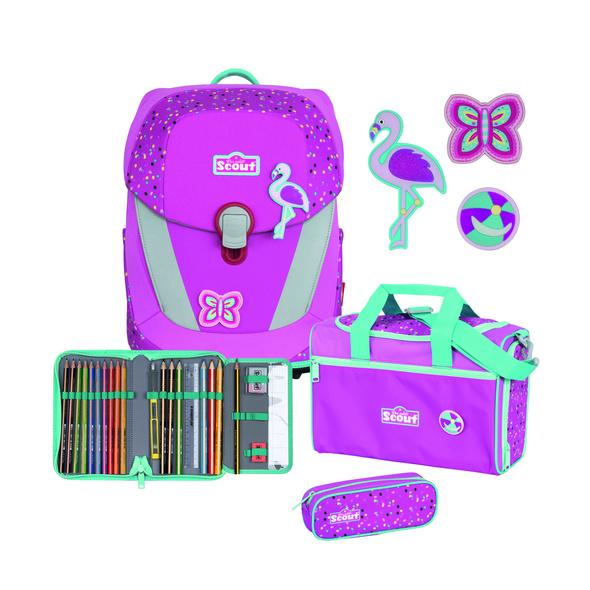 Scout Schulranzen Set 4tlg. Sunny II Flamingo