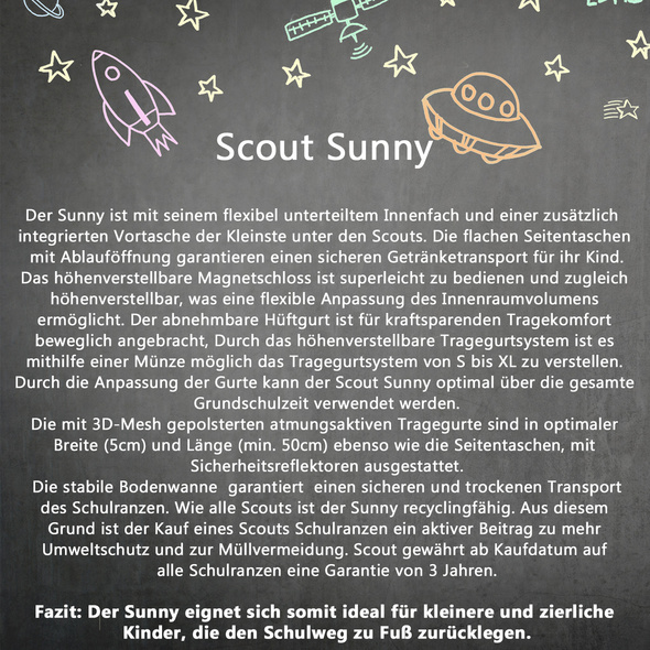 Scout Schulranzen-Set Sunny 4tlg. Dance