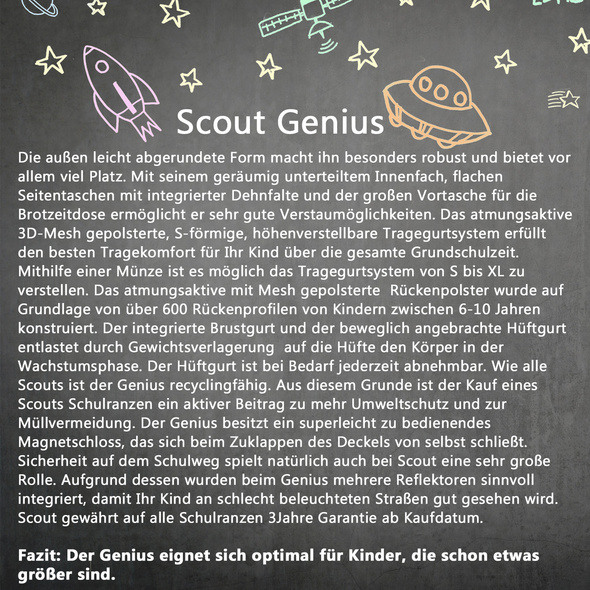 Scout Schulranzen-Set 4tlg. Jungen Genius Ninja Viper