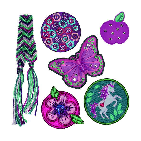 Scout Schulranzen-Set 4tlg. Ultra Lilac Leaves