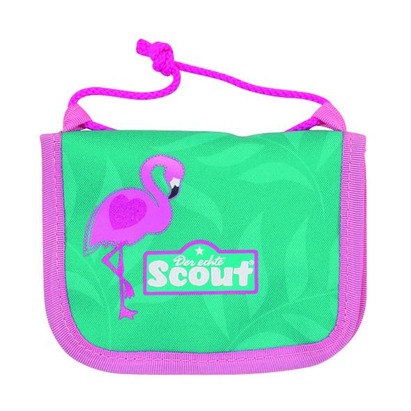 Scout Brustbeutel III Mädchen glitter flamingo