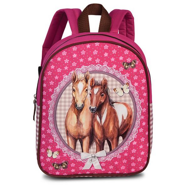 Fabrizio Kinder Rucksack Pferde pink