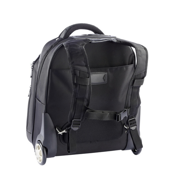 "Dermata Laptop Rucksack Trolley 3444 NY 15"" dunkelbraun"