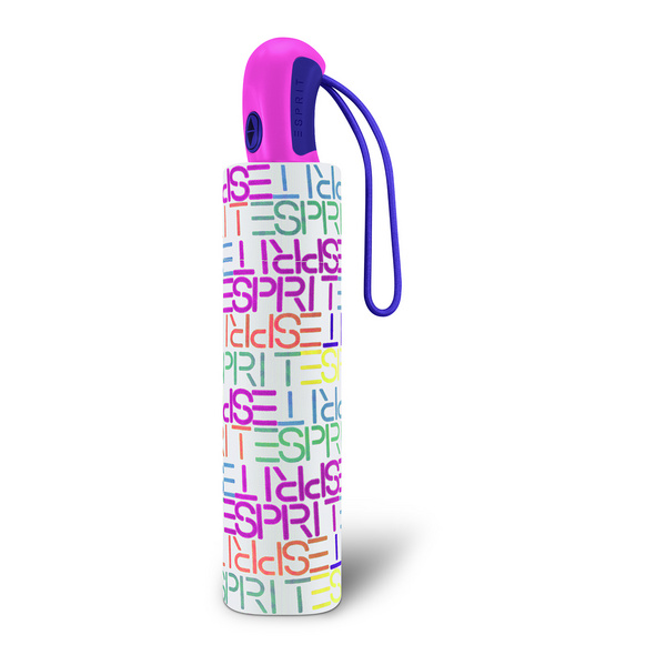 Esprit Taschenschirm Easymatic light letter dance white