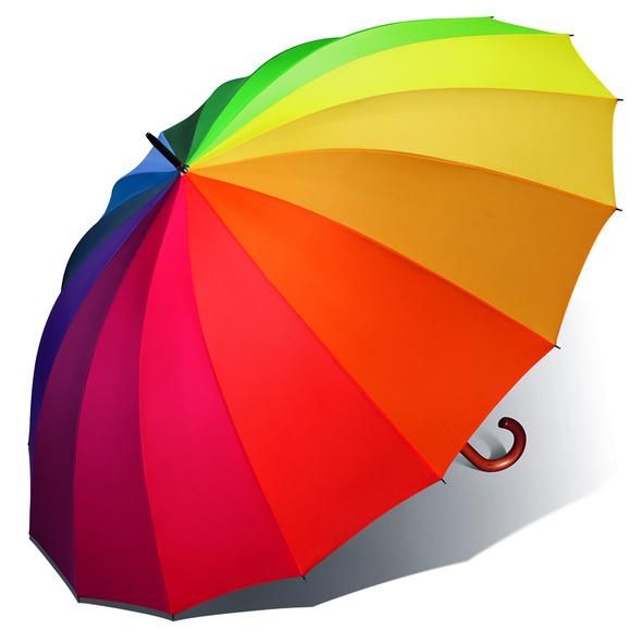Happy Rain Stockschirm RD Golf Rundhaken 75/16 multicolor