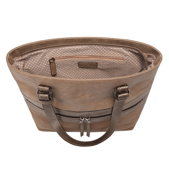 Tom Tailor Shopper Marit taupe