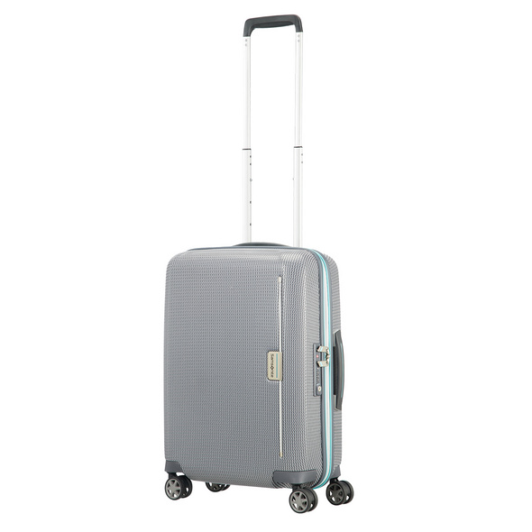 Samsonite Reisetrolley Mixmesh 55cm grey/capri blue