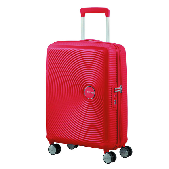 American Tourister Reisetrolley Soundbox 55cm coral red