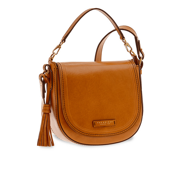 The Bridge Umhängetasche Pearldistrict Crossover Bag L cognac gold