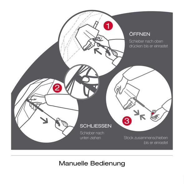Knirps Taschenschirm T.050 Medium Manual bolero taupe