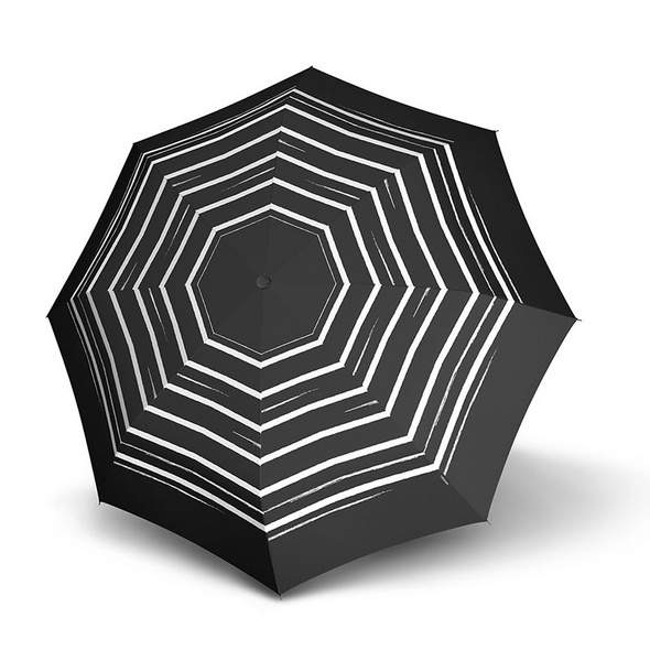 Knirps Taschenschirm Fiber T2 Duomatic stripe art black