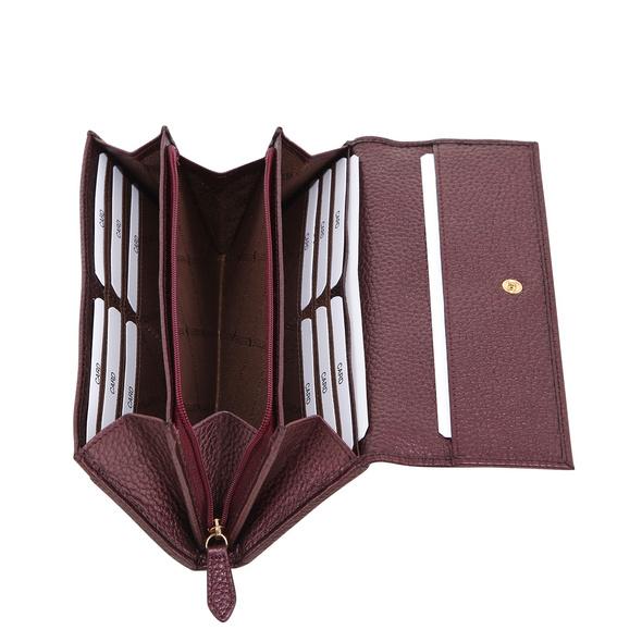 Braun Büffel Überschlagbörse Damen Alessia oxblood metallic