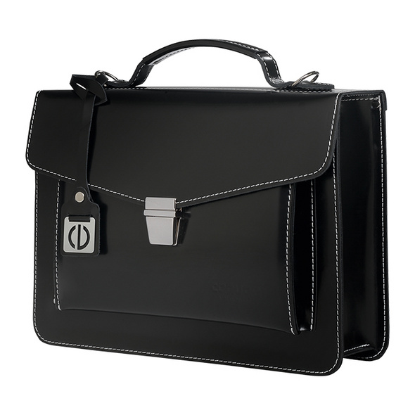CEEVEE Leather Aktentasche Catchall Day pure black