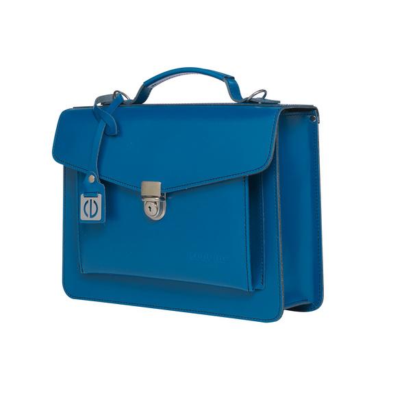 CEEVEE Leather Aktentasche Catchall Day blue