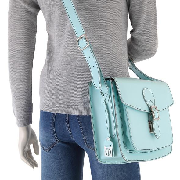 CEEVEE Leather Umhängetasche Catchall II blue