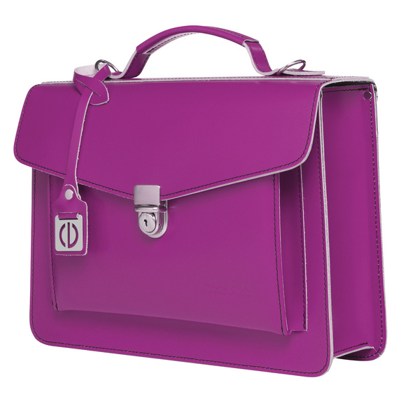 CEEVEE Leather Aktentasche Catchall Day purple