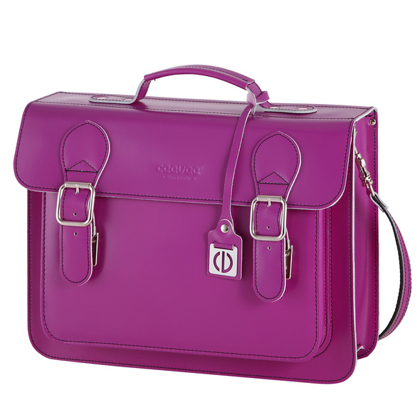 CEEVEE Leather Aktentasche Catchall Business purple