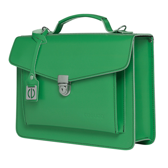 CEEVEE Leather Aktentasche Catchall Day green