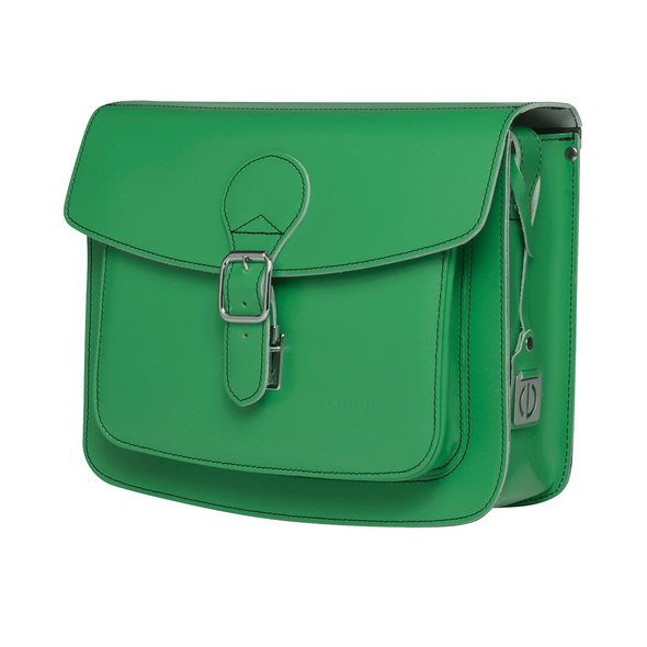 CEEVEE Leather Umhängetasche Catchall II green
