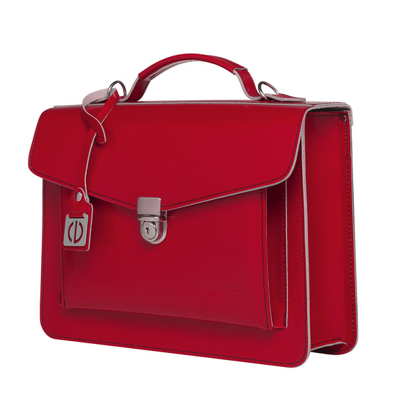 CEEVEE Leather Aktentasche Catchall Day red