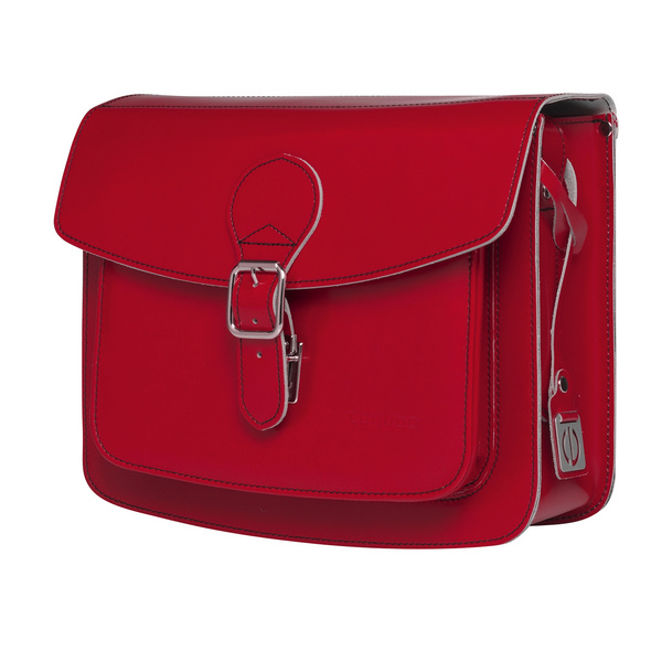 CEEVEE Leather Umhängetasche Catchall II red