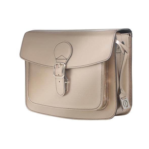 CEEVEE Leather Umhängetasche Catchall II platinum