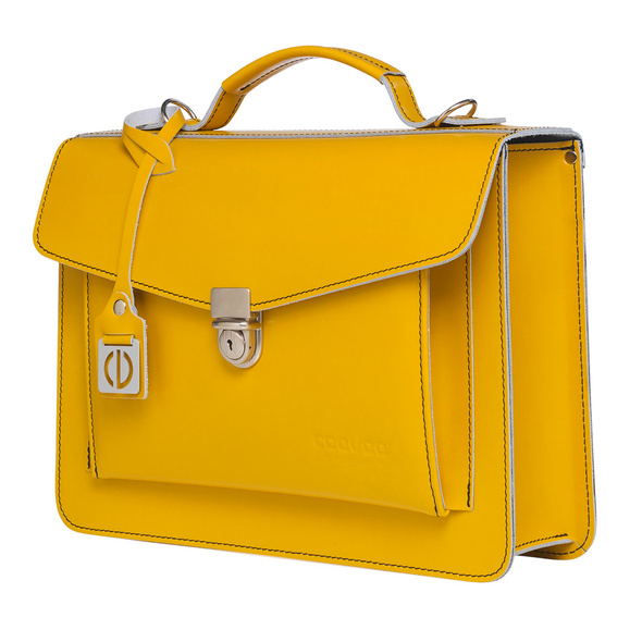 CEEVEE Leather Aktentasche Catchall Day yellow