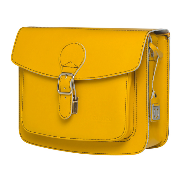 CEEVEE Leather Umhängetasche Catchall II yellow