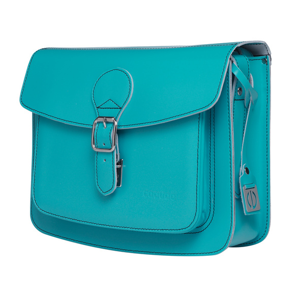 CEEVEE Leather Umhängetasche Catchall II turquoise
