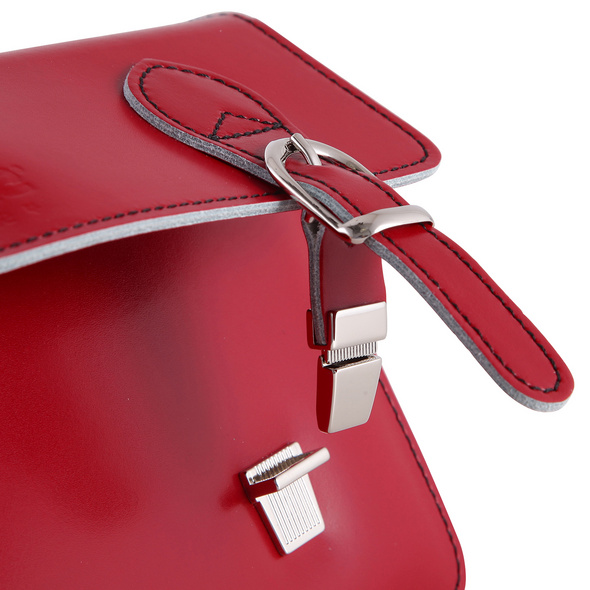 CEEVEE Leather Clutch Catchall Night red