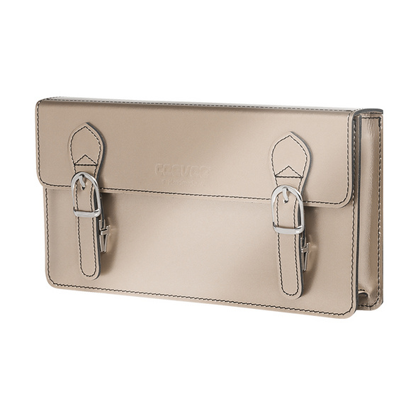 CEEVEE Leather Clutch Catchall Night platinum