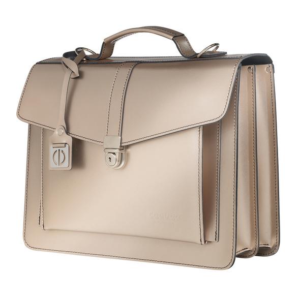 CEEVEE Leather Aktentaschen Catchall III platinum