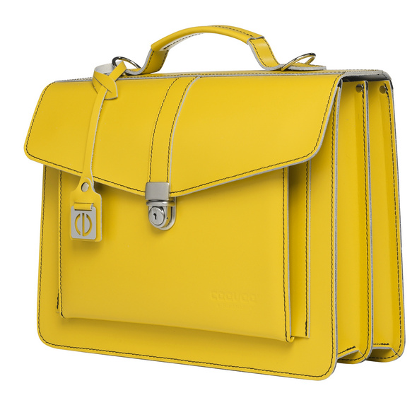 CEEVEE Leather Aktentaschen Catchall III yellow