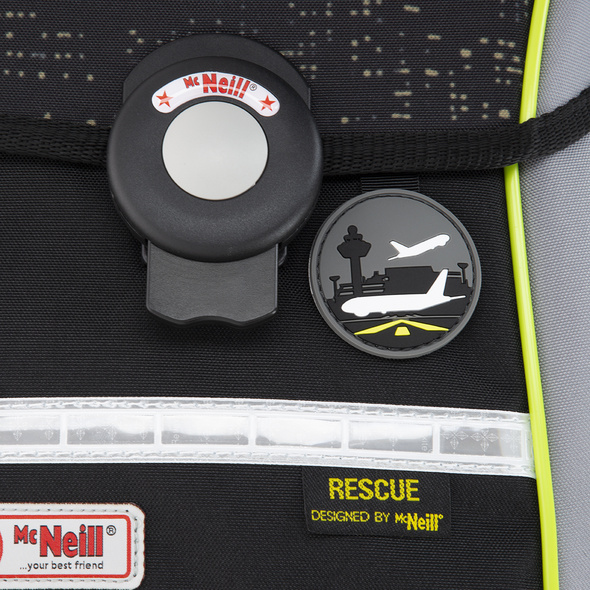 McNeill Schulranzen-Set 4tlg. Ergo Pure flex Rescue