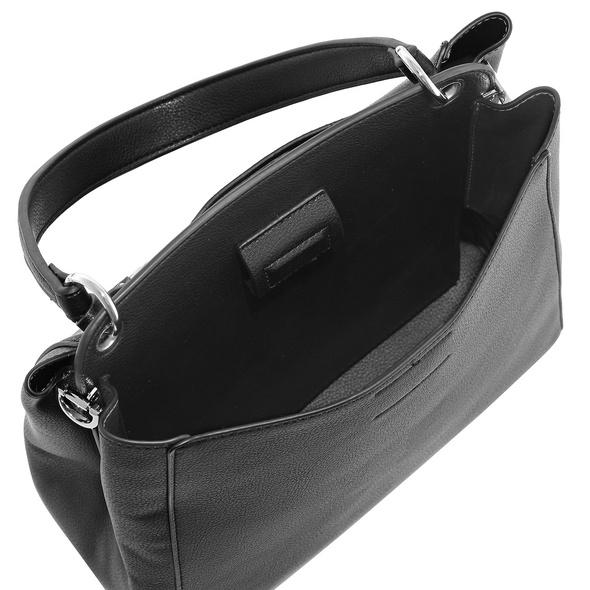 L. Credi Kurzgriff Tasche Filippa schwarz